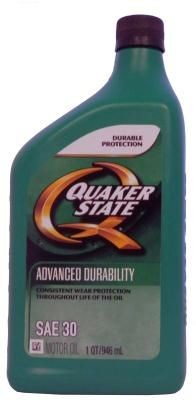 Quaker State Advanced Durability SAE 30 Motor Oil